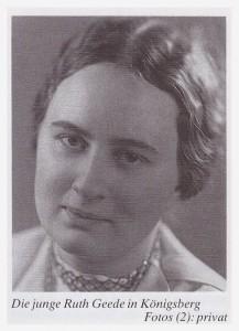 Die junge Ruth Geede.